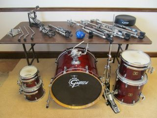 Gretsch Catalina Birch 5 piece Drum Set with stands pedals Cymbals not
