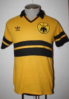 VTG ADIDAS AEK ATHENS GREECE GREEK SOCCER JERSEY FOOTBALL SHIRT RARE