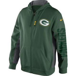 Green Bay Packers XXL Green KO Full Zip Hoody Hooded Sweatshirt