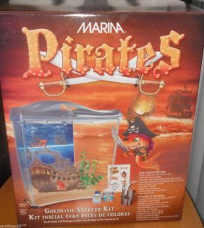 Marina Pirate themed Goldfish Fish Starter Kit Tank Aquarium Small