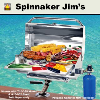 Gas Stainless Steel Barbecue BBQ Grill Boat RV Camping