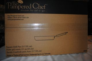 CHEF 11 Square Grill Pan Grill Press Scraper Set Non Stick Cookware
