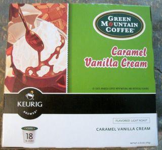 Green Mountain Coffee K Cups 18 Count Caramel Vanilla Cream