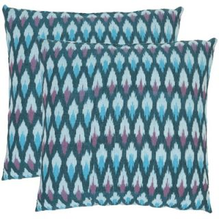Safavieh Taylor Diamond Ikat Decorative Pillows in Blue (Set of 2