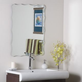 Decor Wonderland Frameless Ridge Wall Mirror   SSM1058