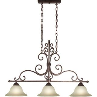 Forte Lighting Three Light Island Pendant with Umber