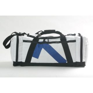 Ella Vickers Nautical Flag Tote in White Sailcloth with Signal Flag