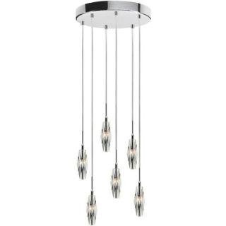 TransGlobe Lighting Merga 6 Light Pendant