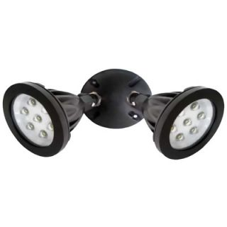 DesignersEdge 14 LED Twin Head Wall Mount Flood Light with Back Plate