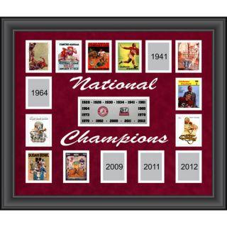 Alabama Crimson Tide 15 Time National Champions Framed Collage