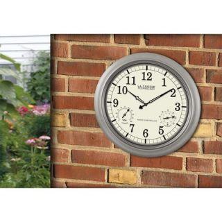 La Crosse Technology 18 Pewter Analog Atomic Wall Clock with