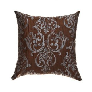 Softline Home Fashions Laura 18 Pillow in Chocolate French Blue