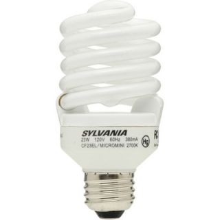Sylvania 23 Watt Micro Mini Compact Fluorescent Bulb (2 Pack