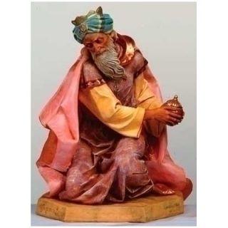 Fontanini 27 Scale Kneeling King Gaspar Figurine