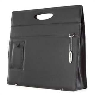 Mobile Edge Womens Full Grain Leather Briefcase in Black
