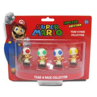 Goldie Marketing Super Mario Mini Toad Figures (Set of 4)