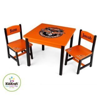 KidKraft 3 Pieces Harley Davidson Table and Chair Set (Non