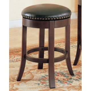 Wildon Home ® Perris 24 Bar Stool with Cushioned Seats and Veneer