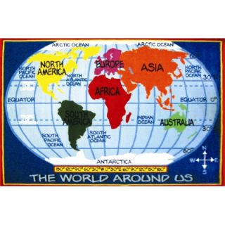 Fun Rugs Fun Time Kids World Map Classroom Kids Rug   FT   167