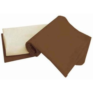 Tadpoles Tadpoles Organic Flannel Receiving Blankets in Cocoa (Set of