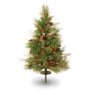National Tree Co. White Pine Pre Lit 30 Pathway Tree with LED Lights