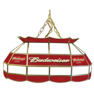 Trademark Global Budweiser 28 Stained Glass Pool Table Lamp