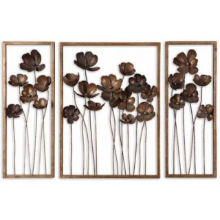 Uttermost Metal Tulips in Antiqued Gold Leaf (Set of 3)