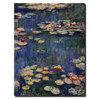 Global Water Lilies by Claude Monet, Canvas Art   47 x 35