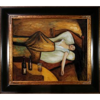 The Day After Canvas Art by Edvard Munch Modern   35 X 31