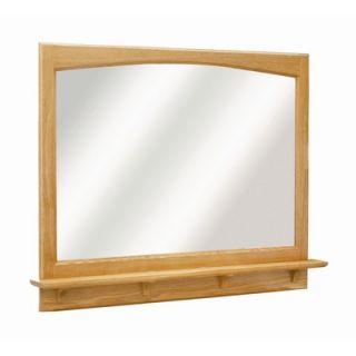 Design House Richland 38 by 31 Mirror Shelf, Nutmeg Oak Hardware