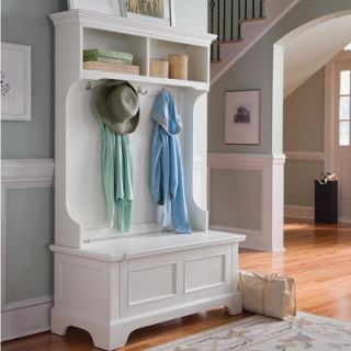 Home Styles Naples Hall Tree in White   88 5530 49