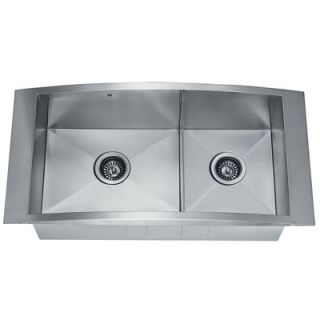 Vigo 36 Topmount Stainless Steel 12 gauge Double Bowl Kitchen Sink
