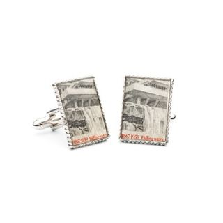 Penny Black 40 Frank Lloyd Wright Falling Water Stamp Cufflinks   PB