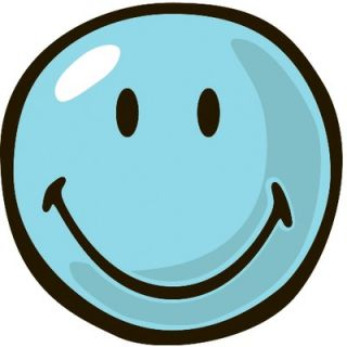 Fun Rugs Smiley World Blue Smiley Kids Rug   SW 11 39RD