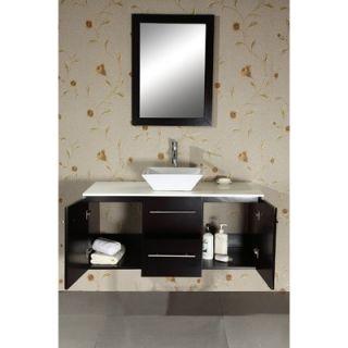 Virtu Ultra Modern Marsala 47.2 Wall Mounted Single Bathroom Vanity