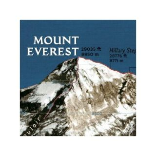 National Geographic Maps Mount Everest 50th Anniversary Wall Map (Two