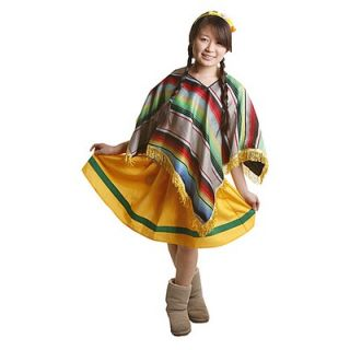 Dress Up America Mexican Girl Childrens Costume Set