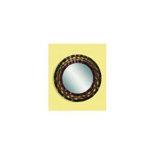 Bassett Mirror Round Metal Frame Mirror in Multi Color