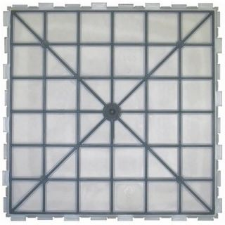 Avaire Select 18 x 18 Porcelain Tile with Interlocking Tray in Shale