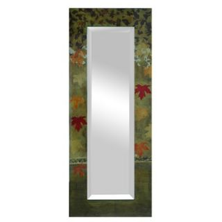 Crestview Beveled Clear Coat Falling Leaves Rectangular Mirror