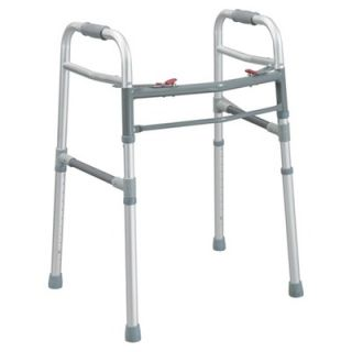 Drive Medical Deluxe Two Button Folding Universal Walker   10248N 1