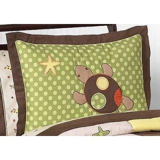 Sweet Jojo Designs Turtle Standard Pillow Sham   Sham Turtle