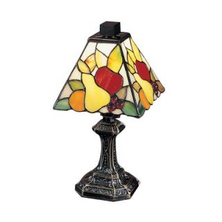 Dale Tiffany Fruit Mini Table Lamp in Antique Brass   TA100122