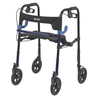 Drive Medical Deluxe Clever Lite Rollator Walker with Casters   102