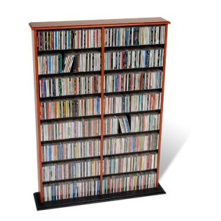 Prepac Double Width Wall Mounted Multimedia Storage Rack   OMA 0640