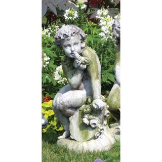 OrlandiStatuary Angels Como Cherub and Doll Statue   FSAK233 D
