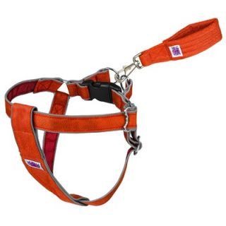 "Doggles Mutt Gearâ""¢ Dog Step In Harness in Orange and Red"