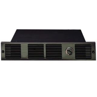 Cadet 120V Under Counter Fan Forced Wall Heater in Black