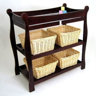 Badger Basket Cherry Sleigh Style Changing Table   02232/0005X