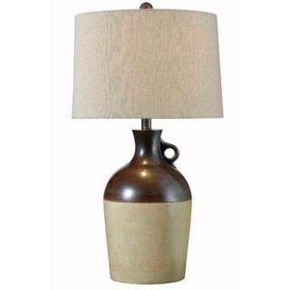 Kenroy Home Beamus One Light Table Lamp in Antique Brown Ceramic